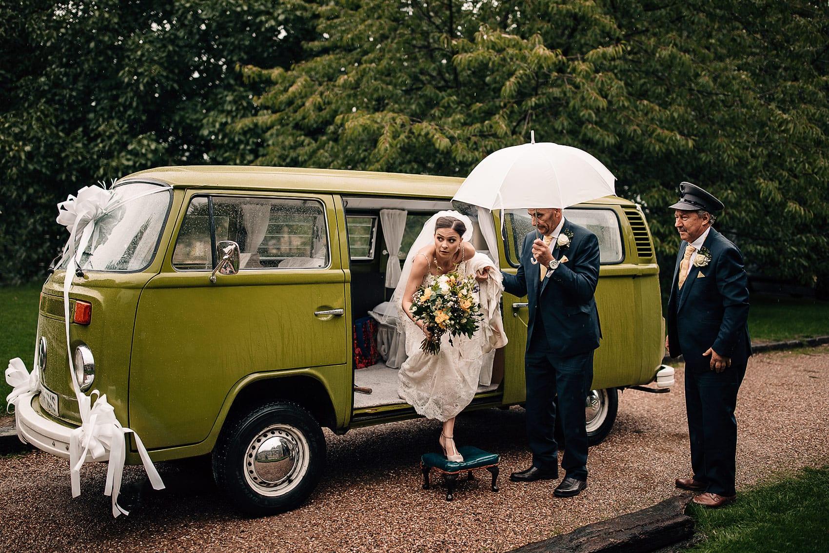 brides arrival adventurous couples photography