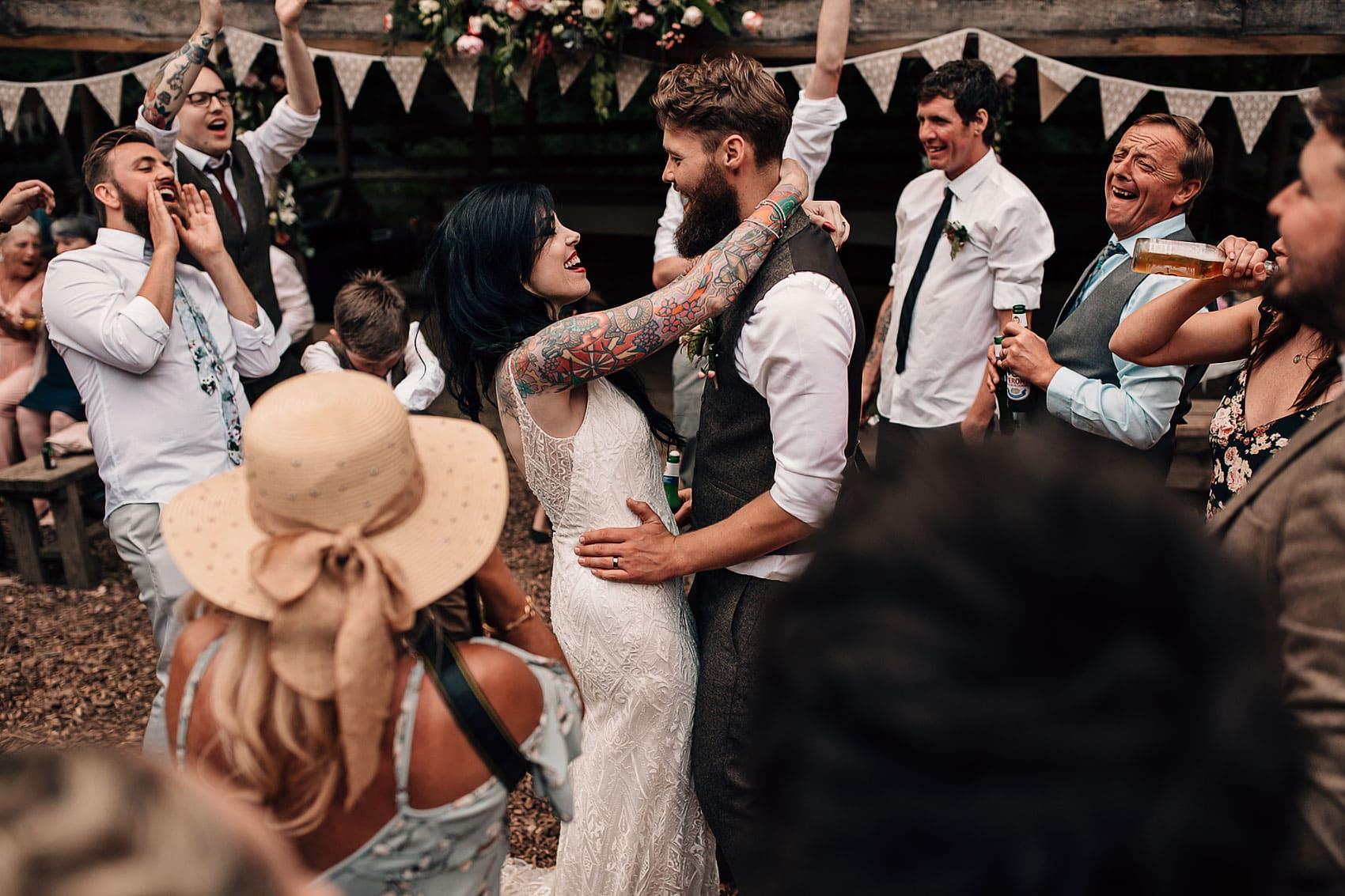 creative couples outdoor wedding photographer