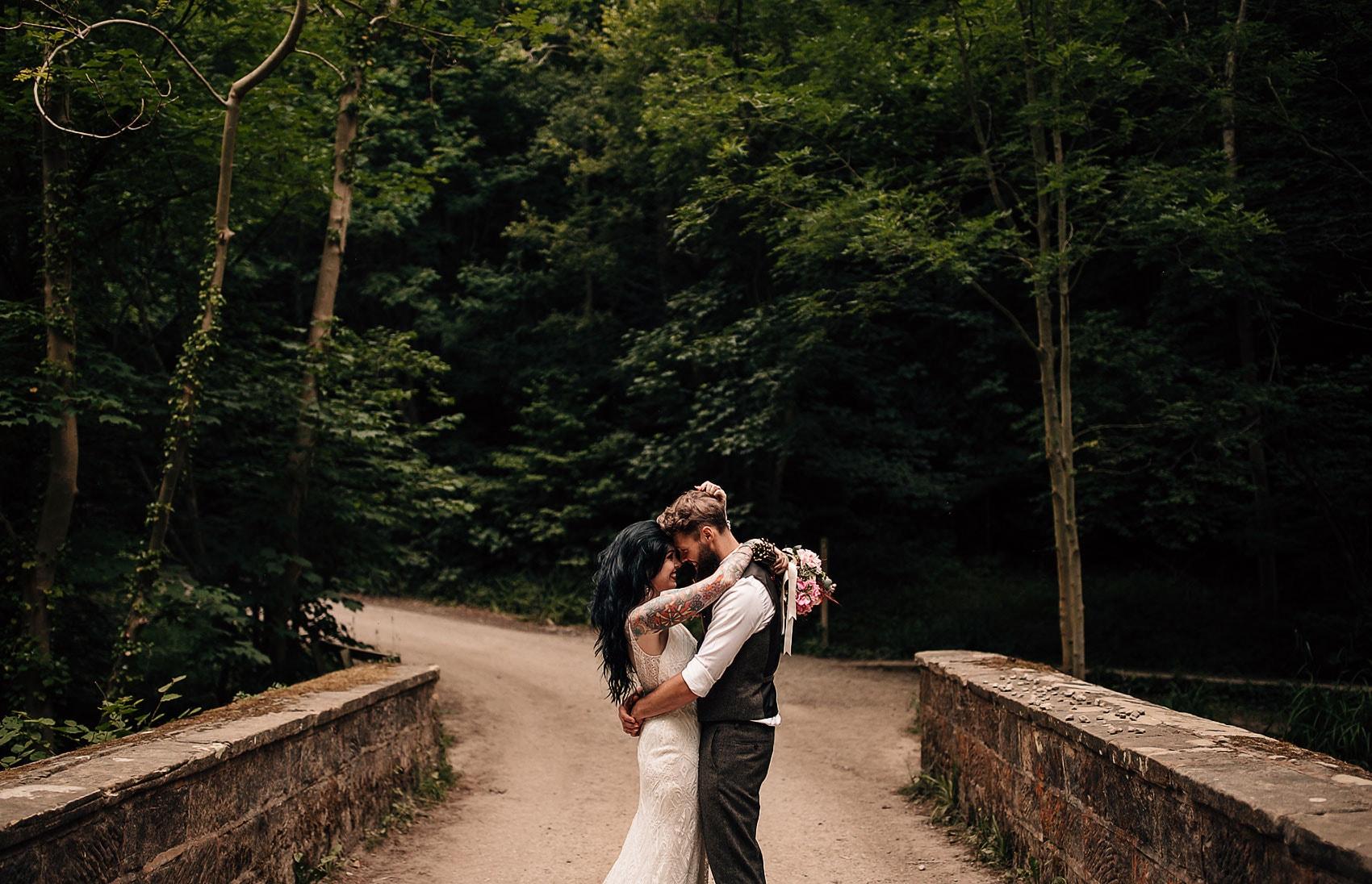 adventure photography outdoor woodland wedding