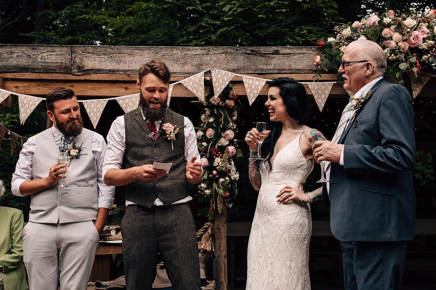 wedding speeches bearded groom