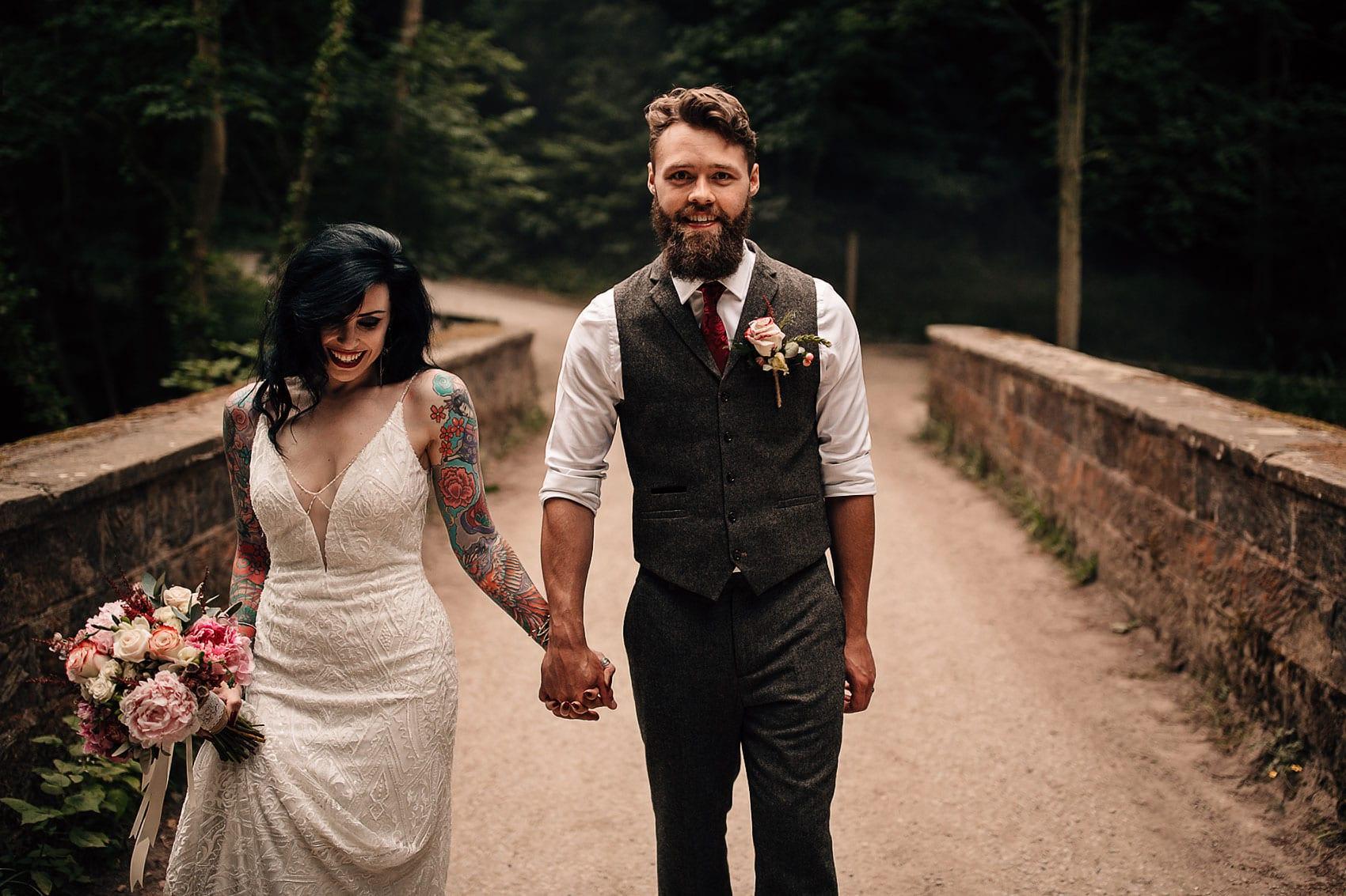 adventure woodland wedding photography
