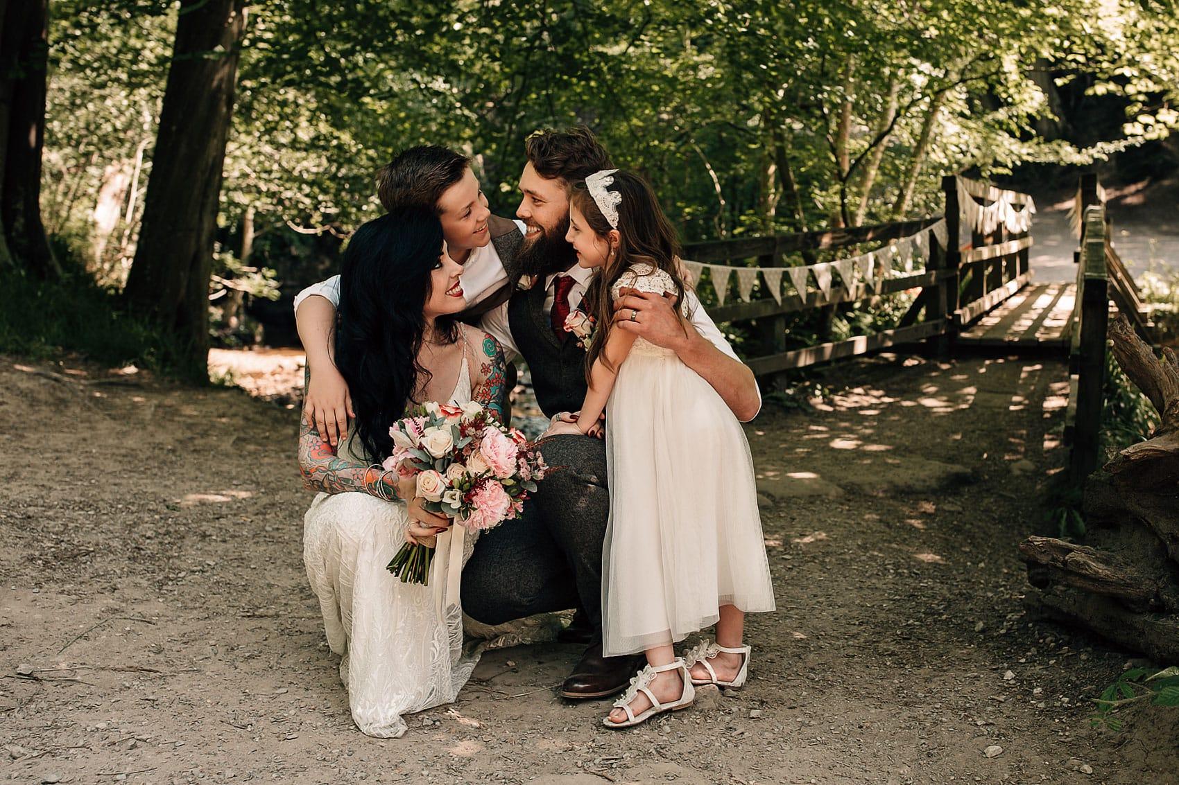 family photography woodland wedding