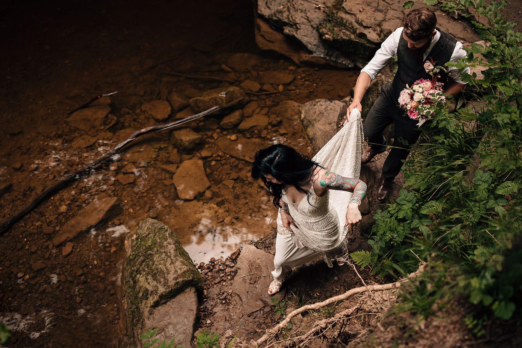bohemian adventurous outdoor wedding photography