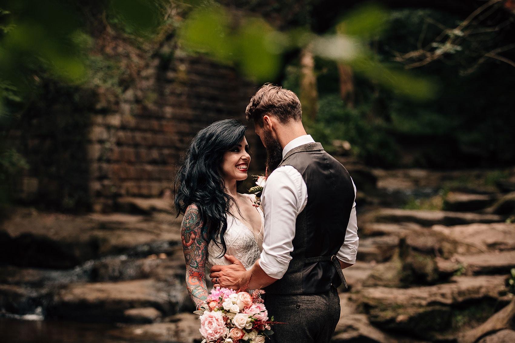 alternative couples outdoor wedding photography