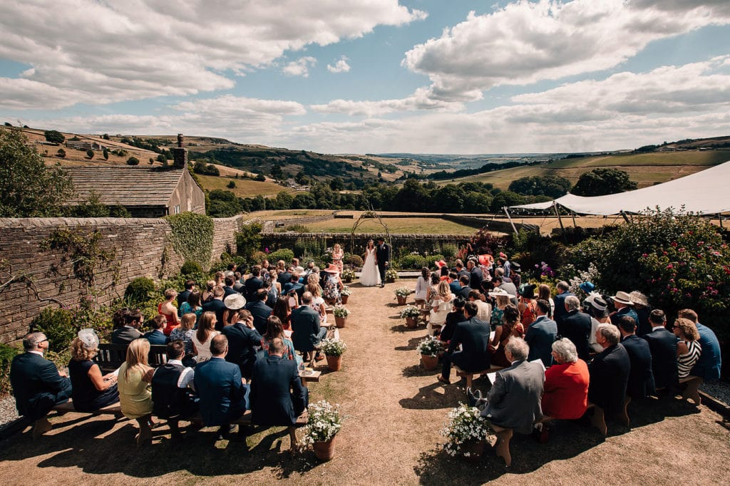 back garden wedding ceremony summer