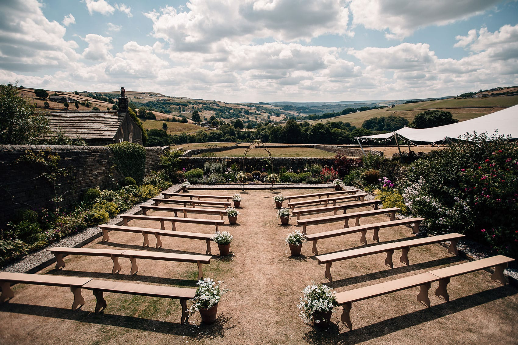 back garden wedding Yorkshire