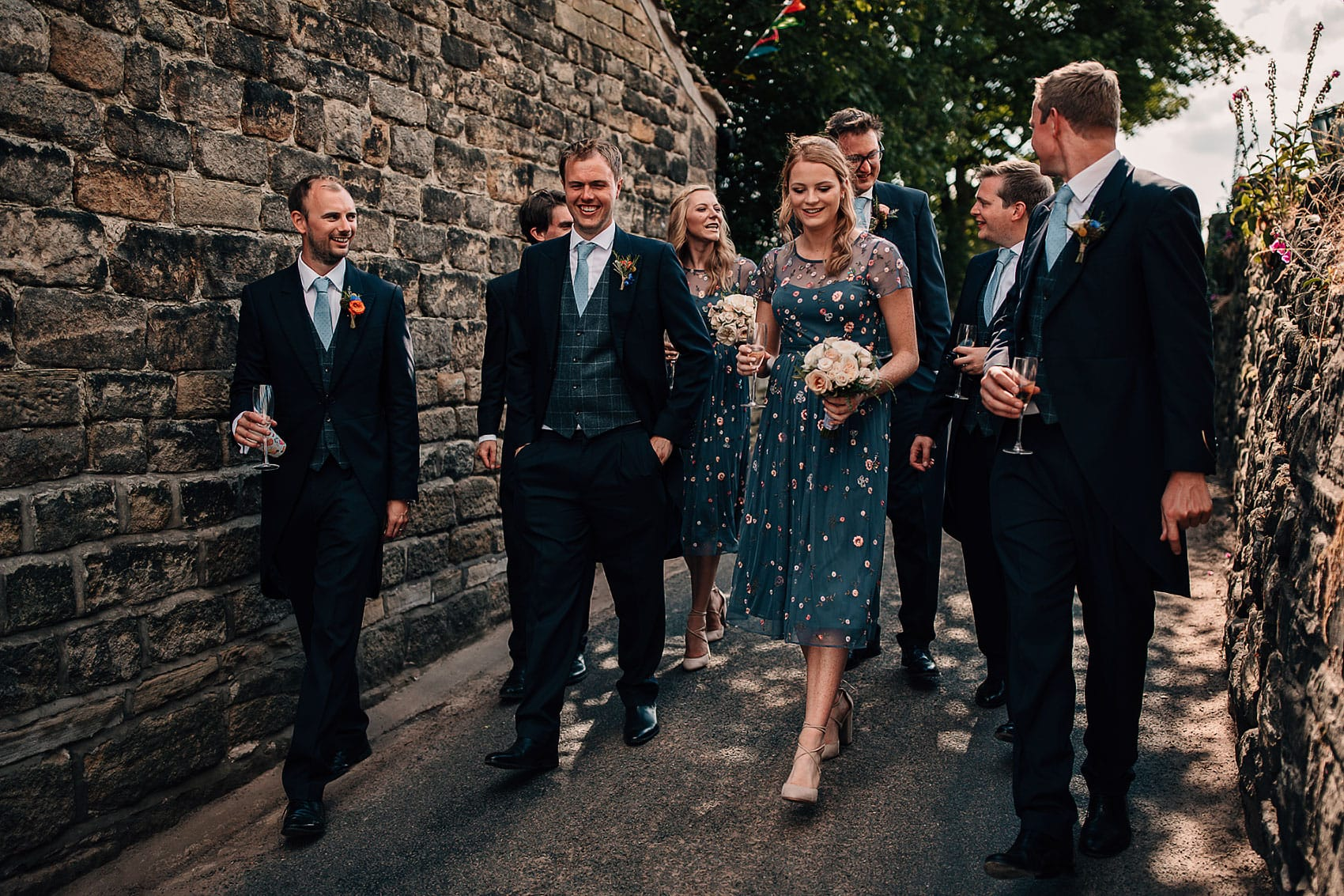 documentary wedding photography bridal party