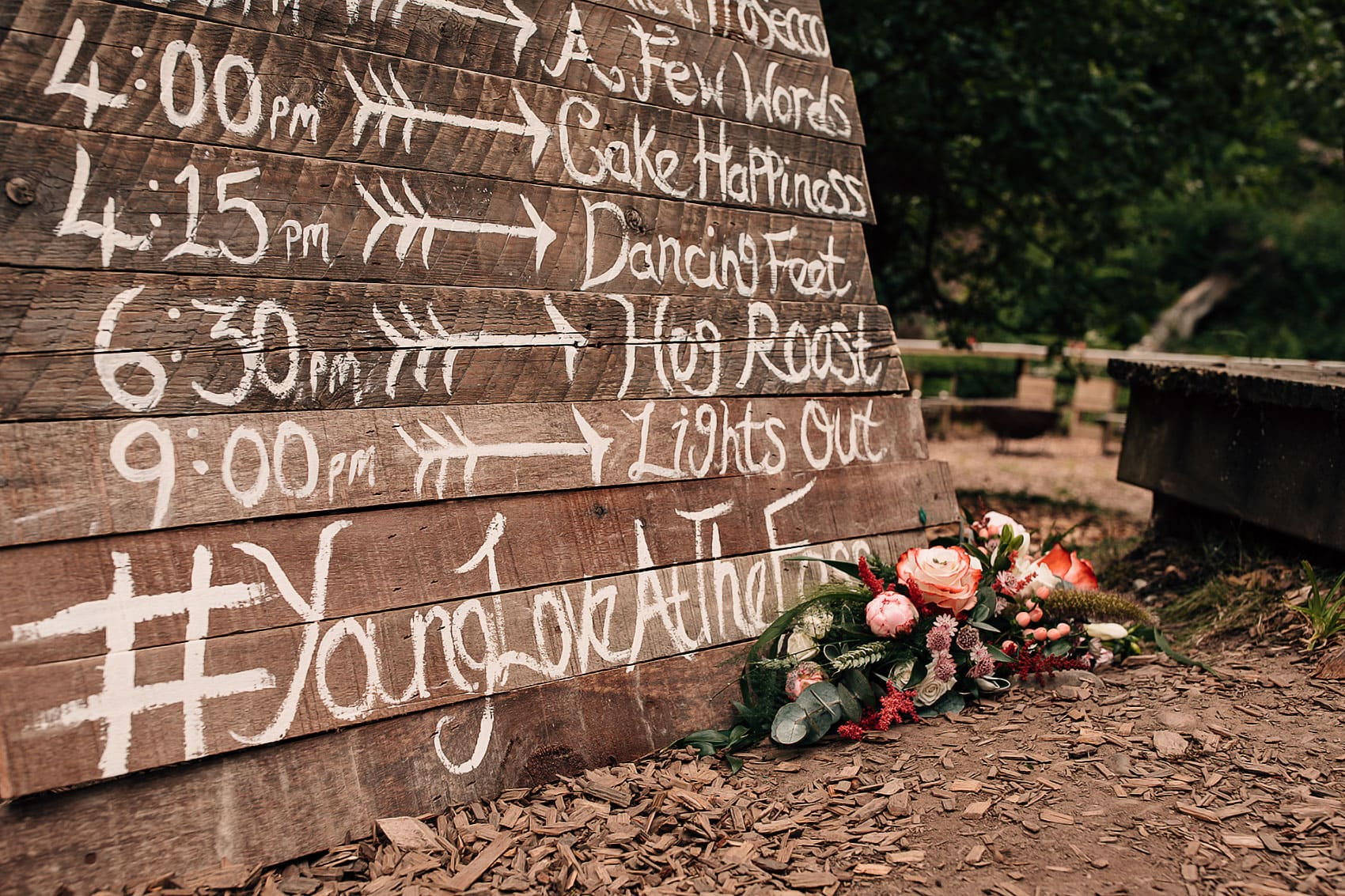 married outdoors wedding photography rustic details