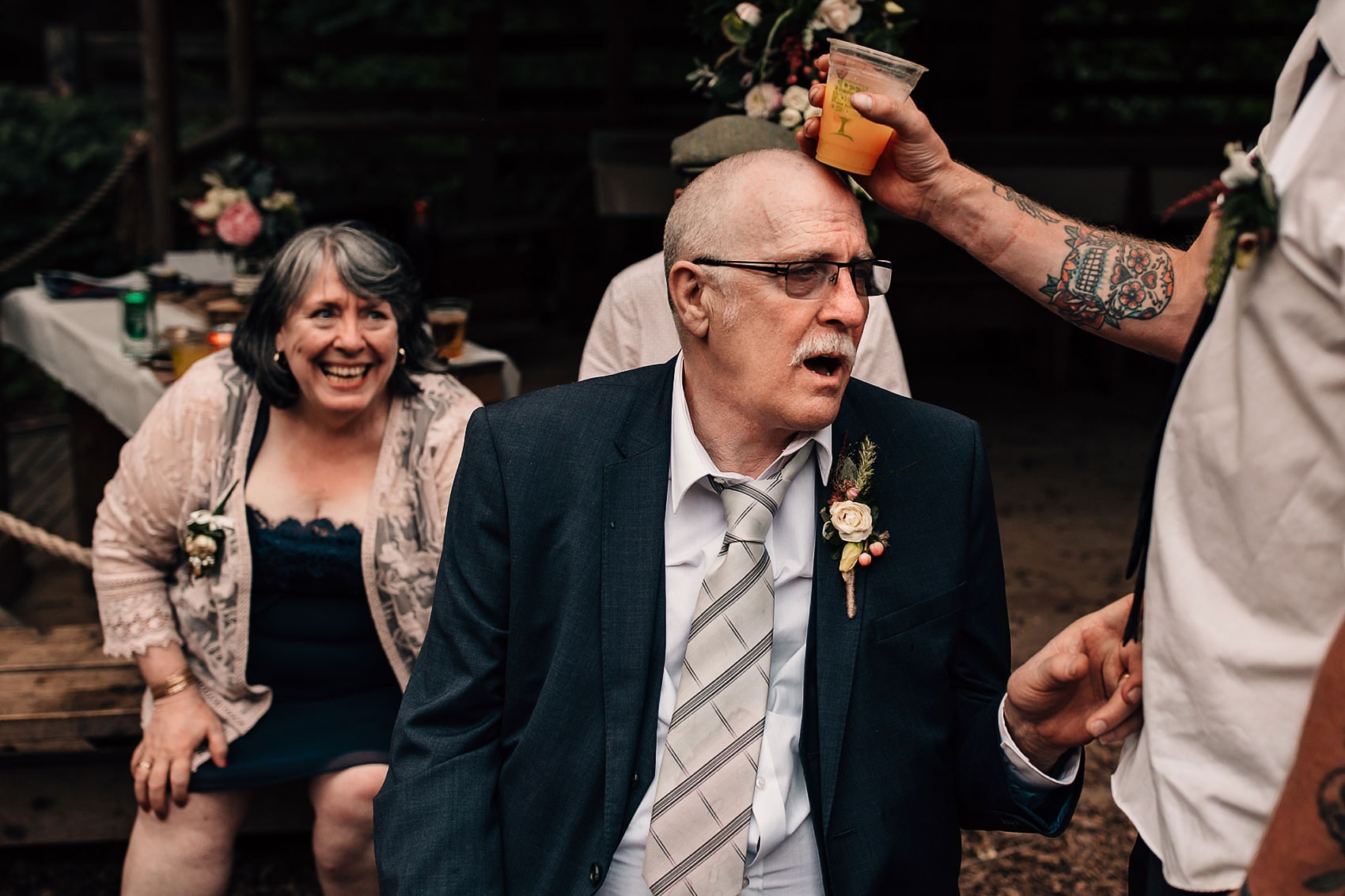 wedding guests rustic outdoor wedding photography