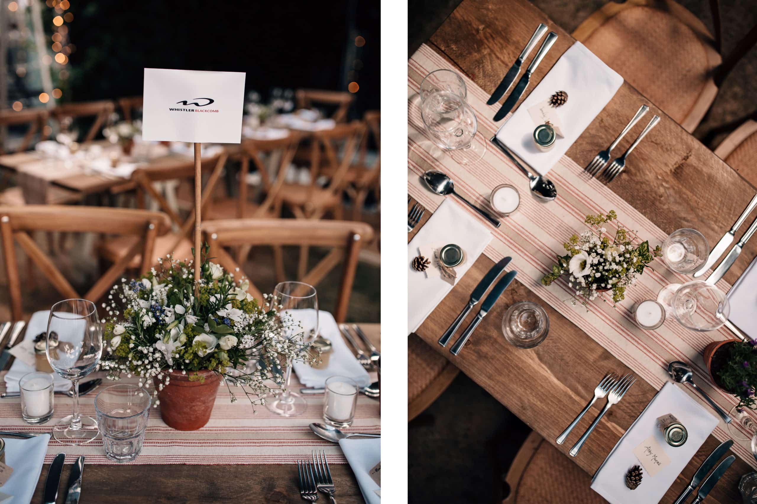 outdoor wedding table decorations marquee