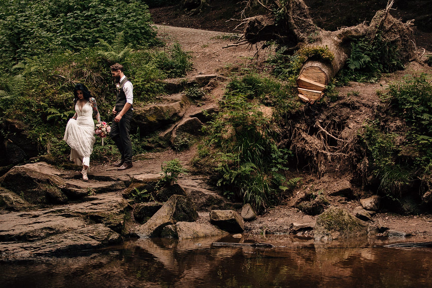 boho wedding forest photography adventurous couples