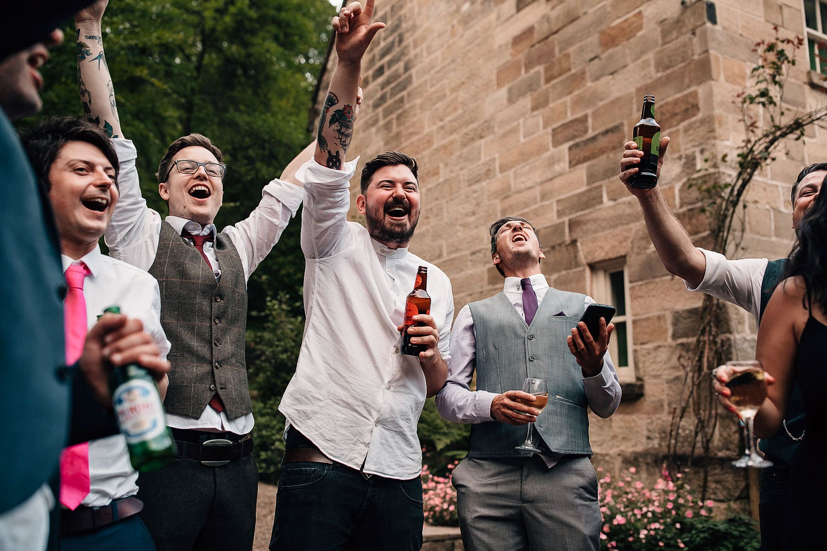 rustic outdoor wedding party Yorkshire
