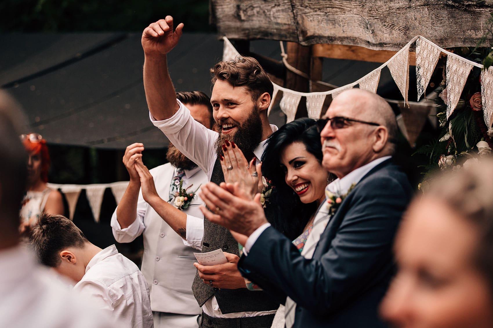 rustic wedding outdoor speeches
