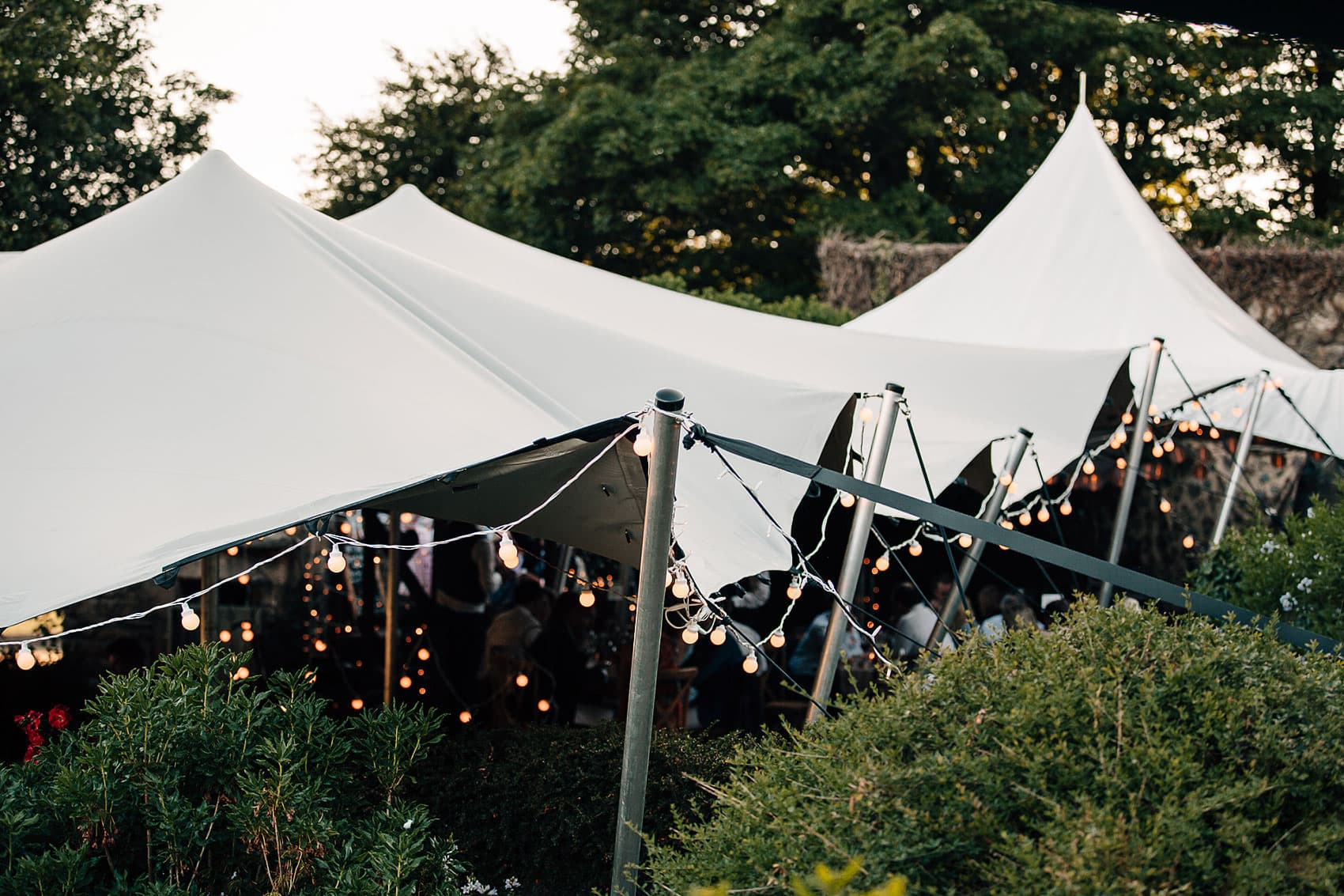 stretch marquee garden wedding