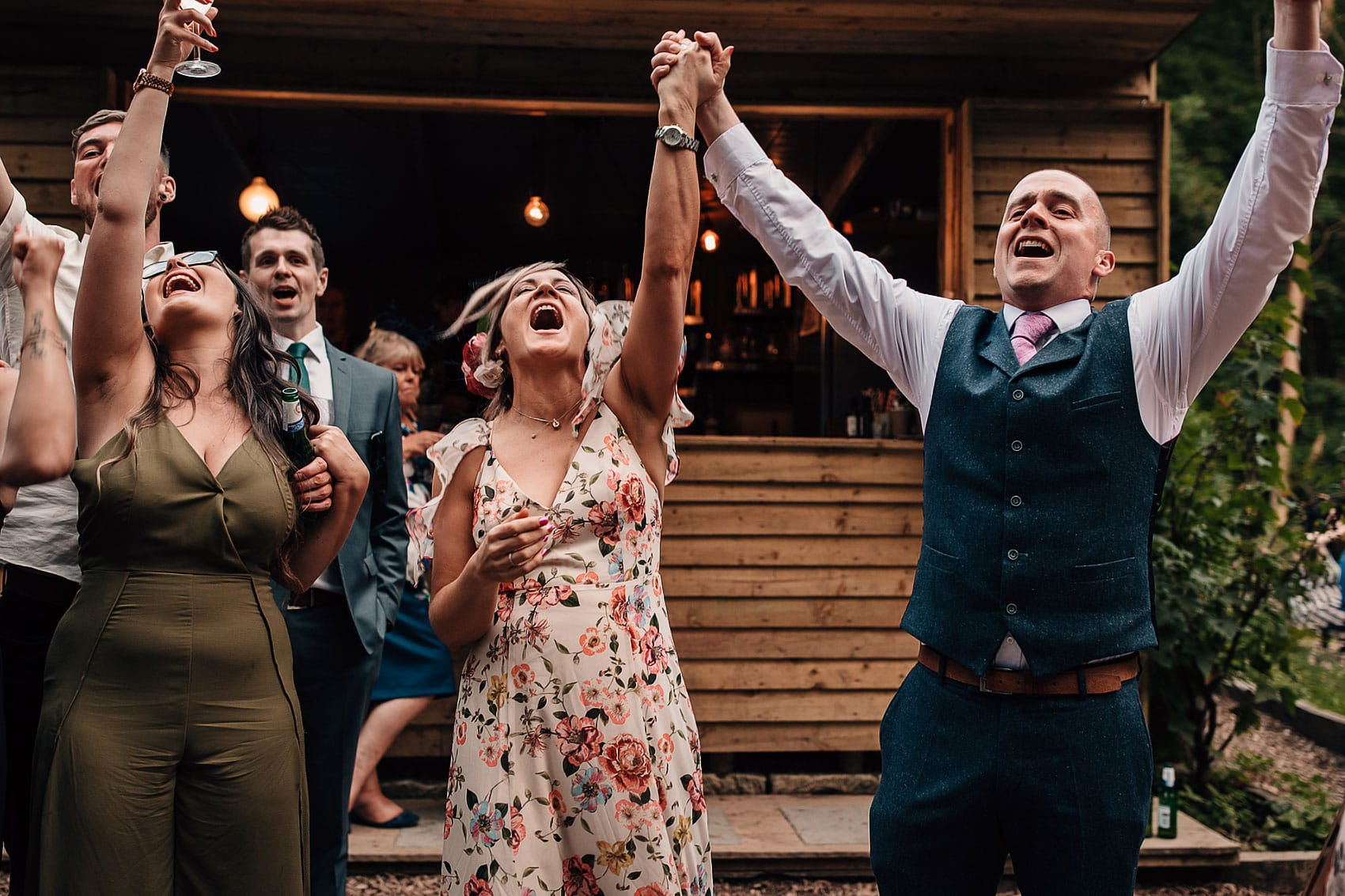 wedding photography outdoors party