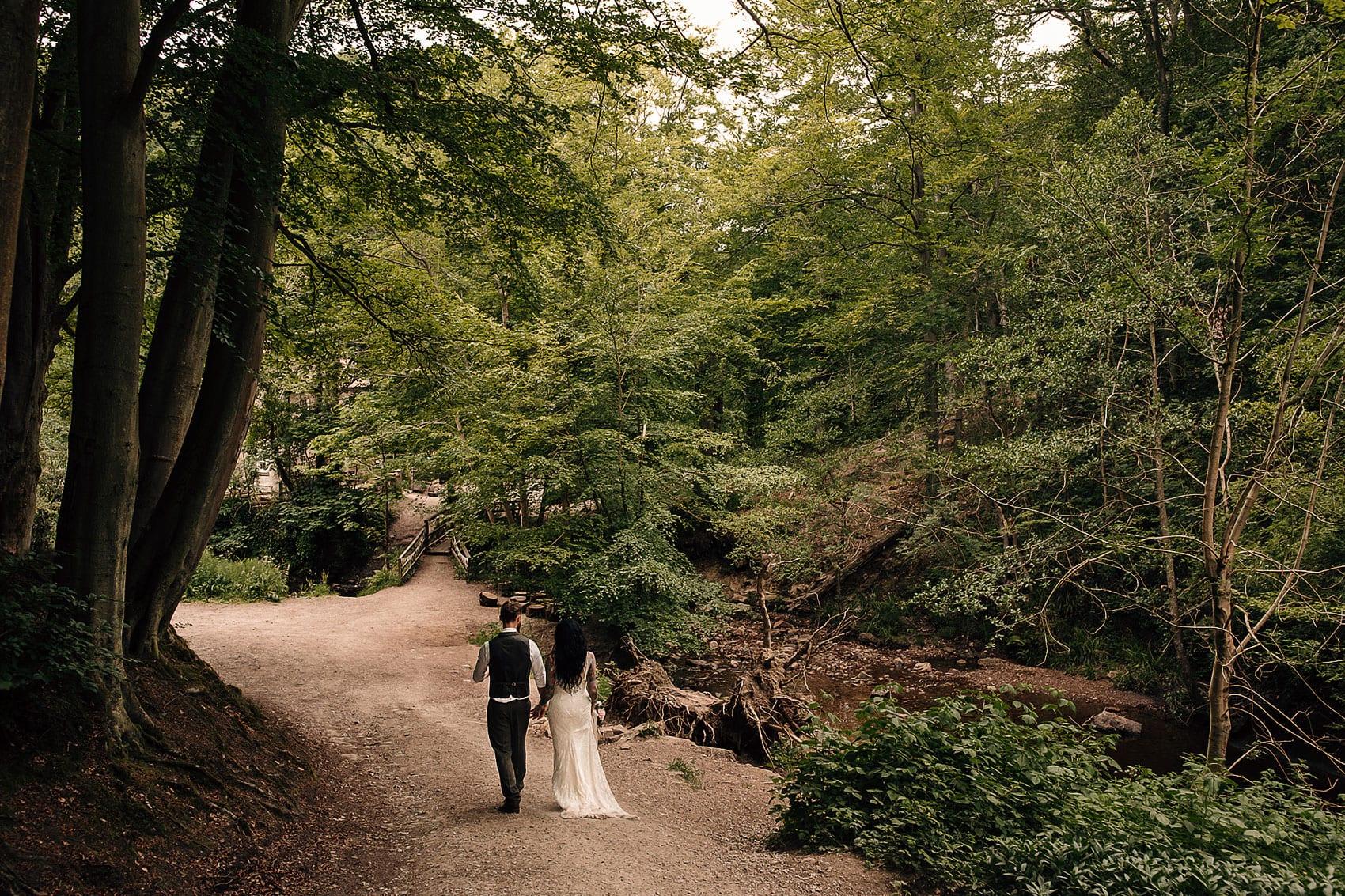 wedding woodland photography adventurous couples