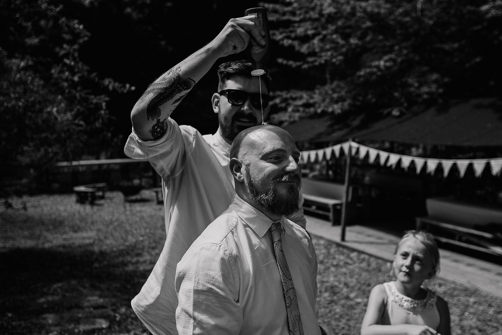 woodland wedding alternative couples photography