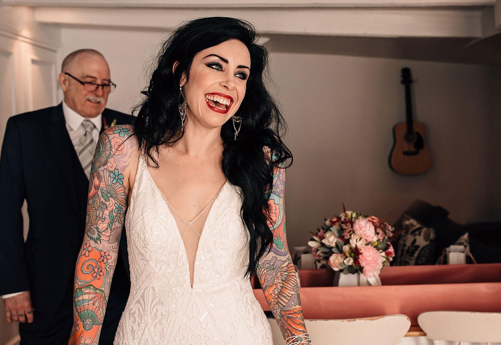 tattoo bride wedding photography