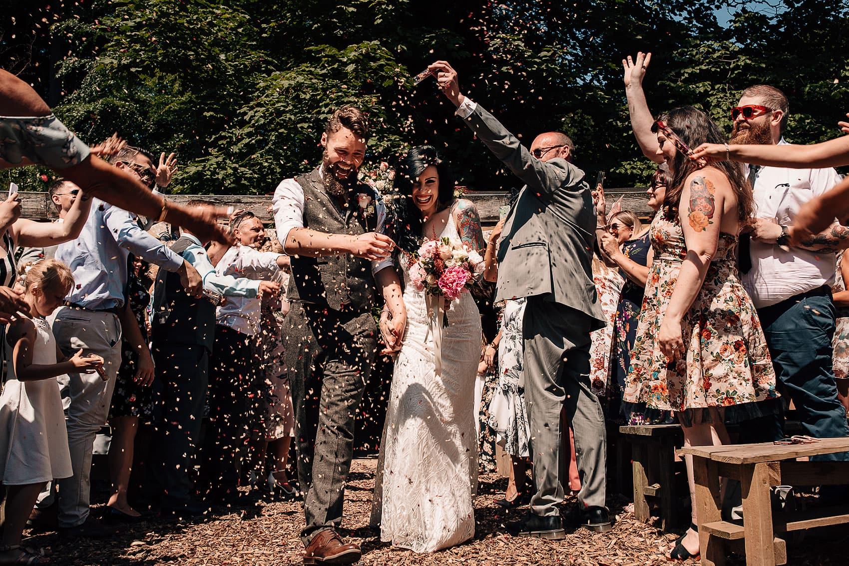 woodland wedding confetti party