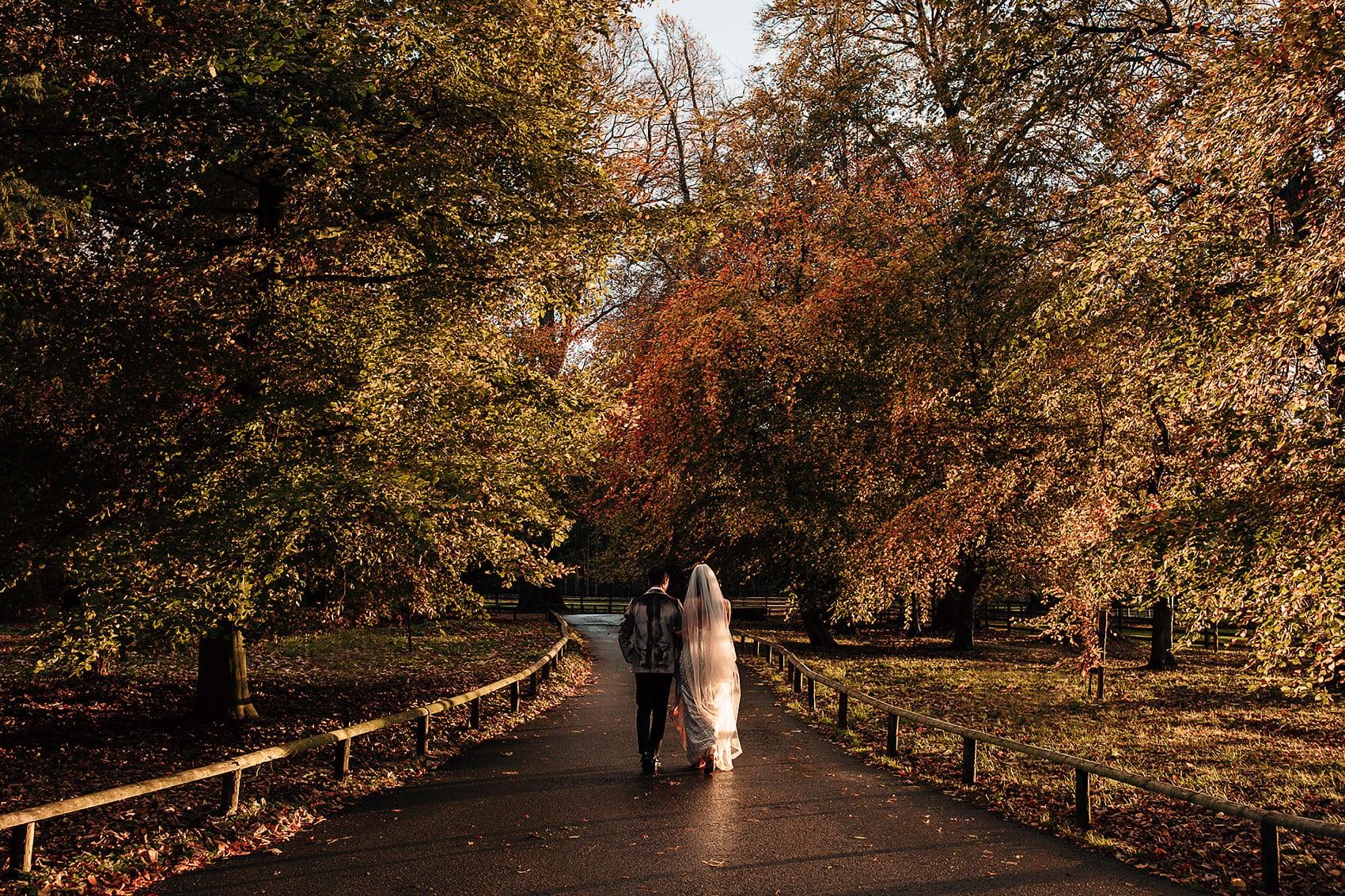 autumnal glamorous wedding Middleton Lodge