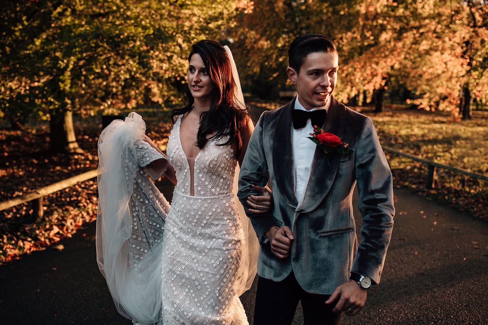 autumnal glamorous wedding Yorkshire