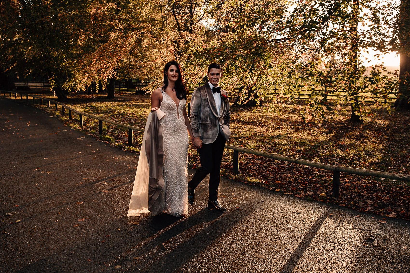 autumnal wedding golden hour photography