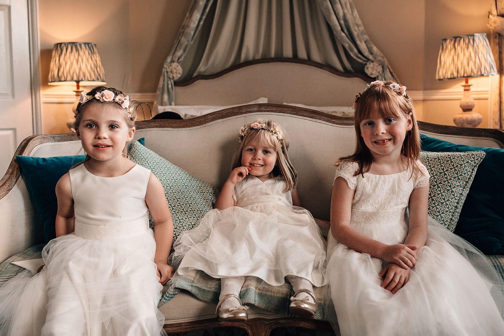 flower girls wedding photography Middleton Lodge