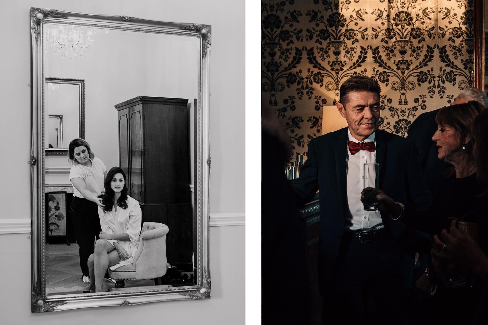 Gatsby style bowtie wedding Middleton Lodge