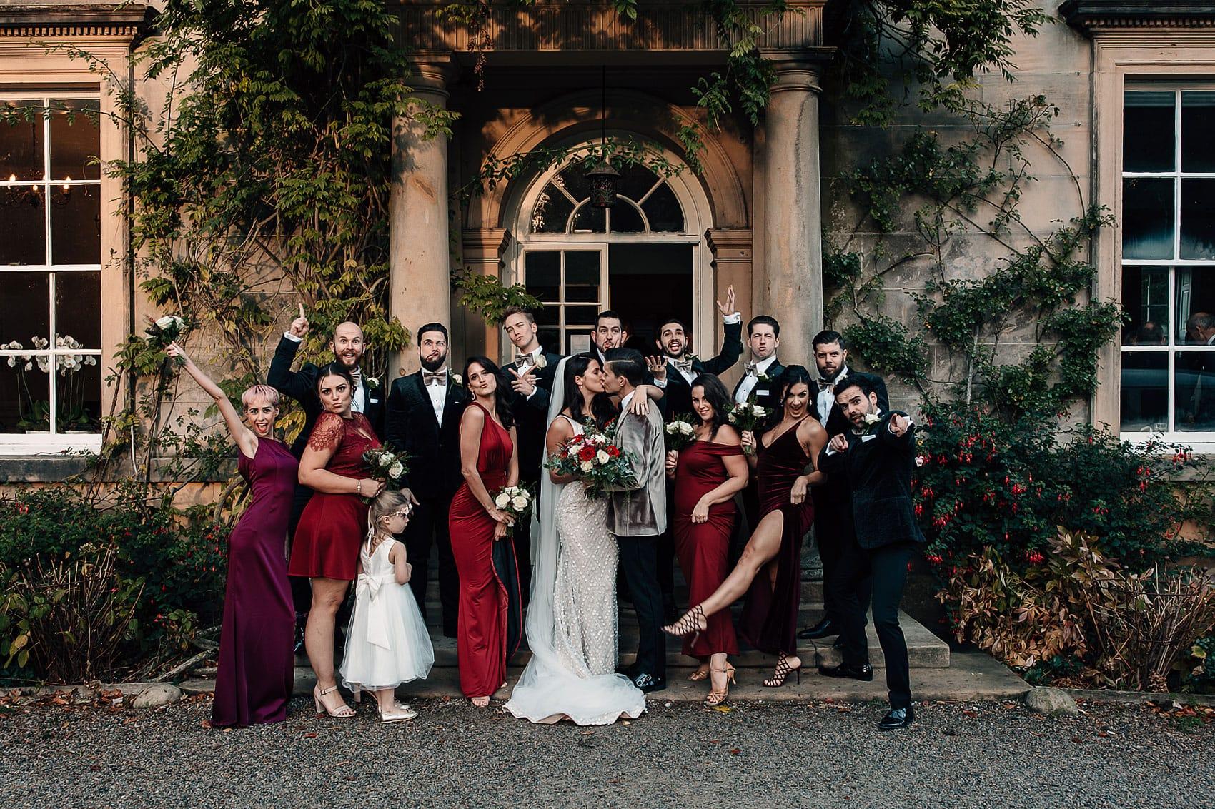 Hollywood style wedding photography Middleton Lodge
