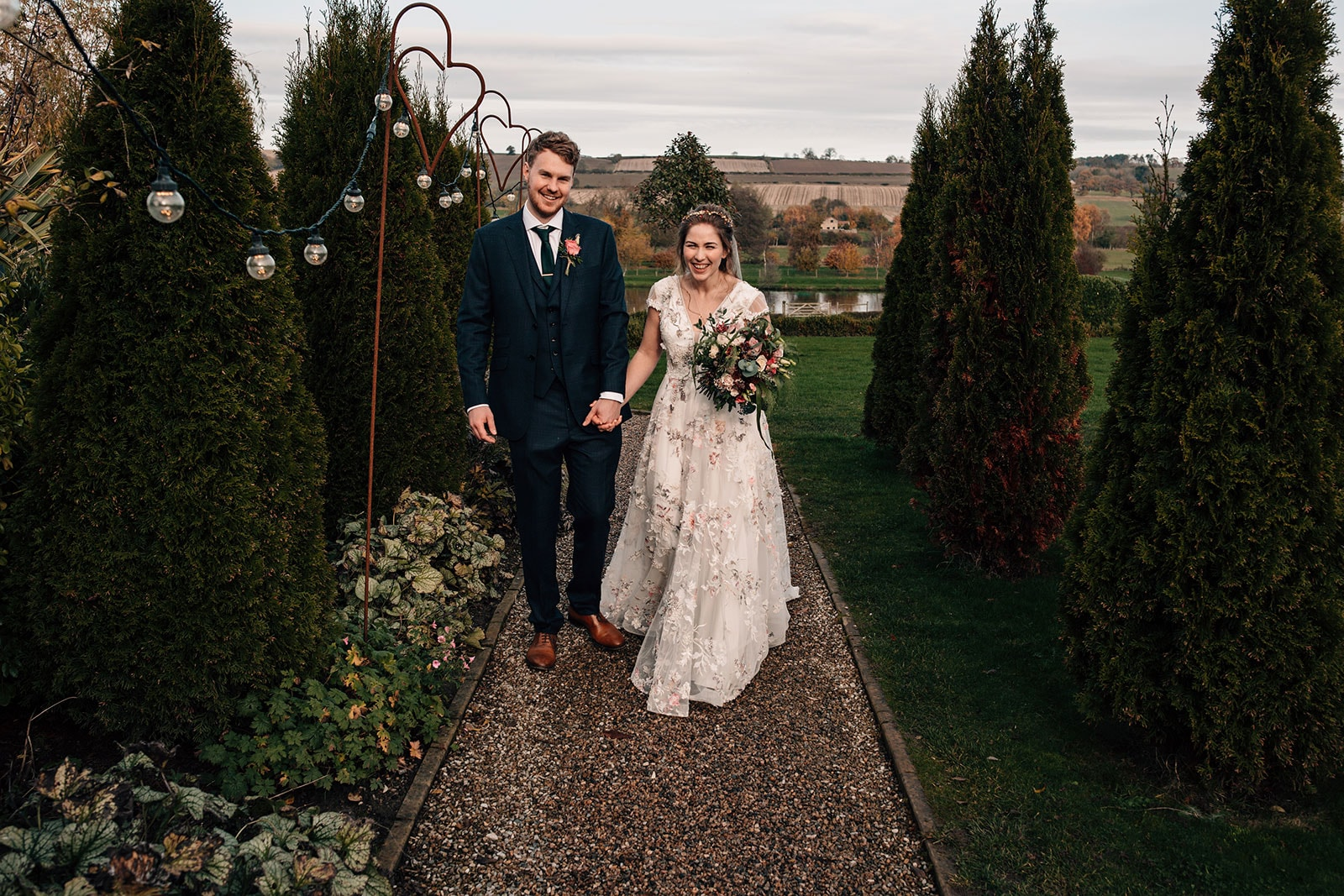 alternative autumn themed wedding photography