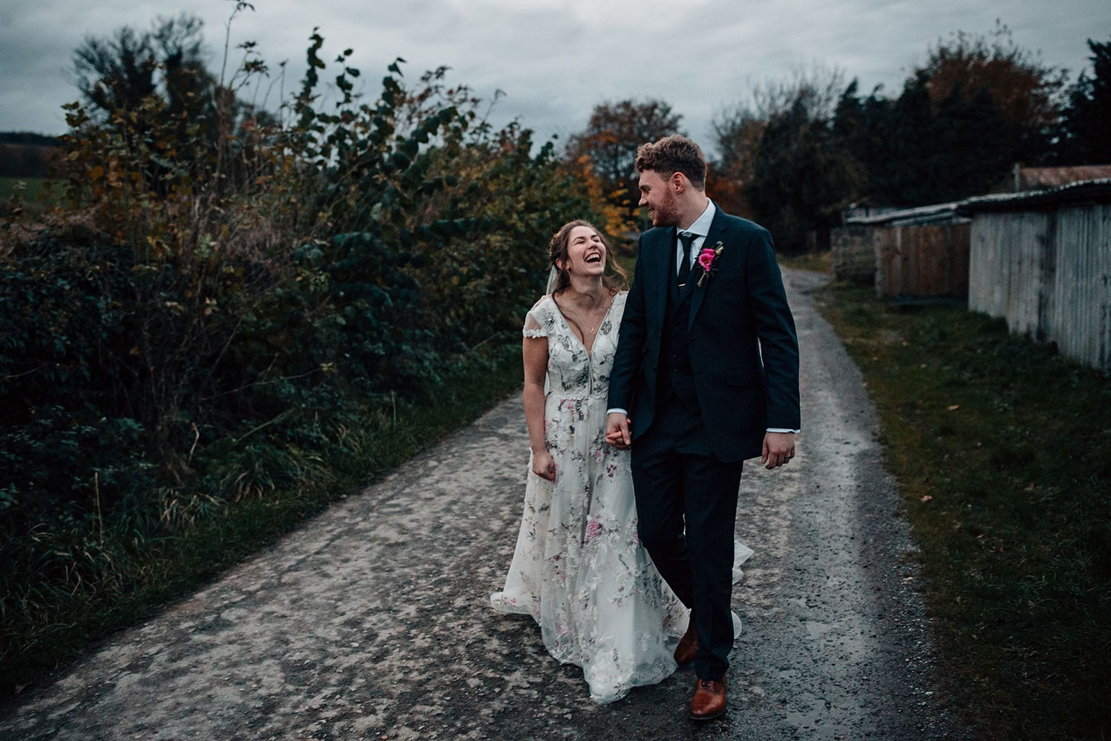 Autumn themed wedding photography Yorkshire