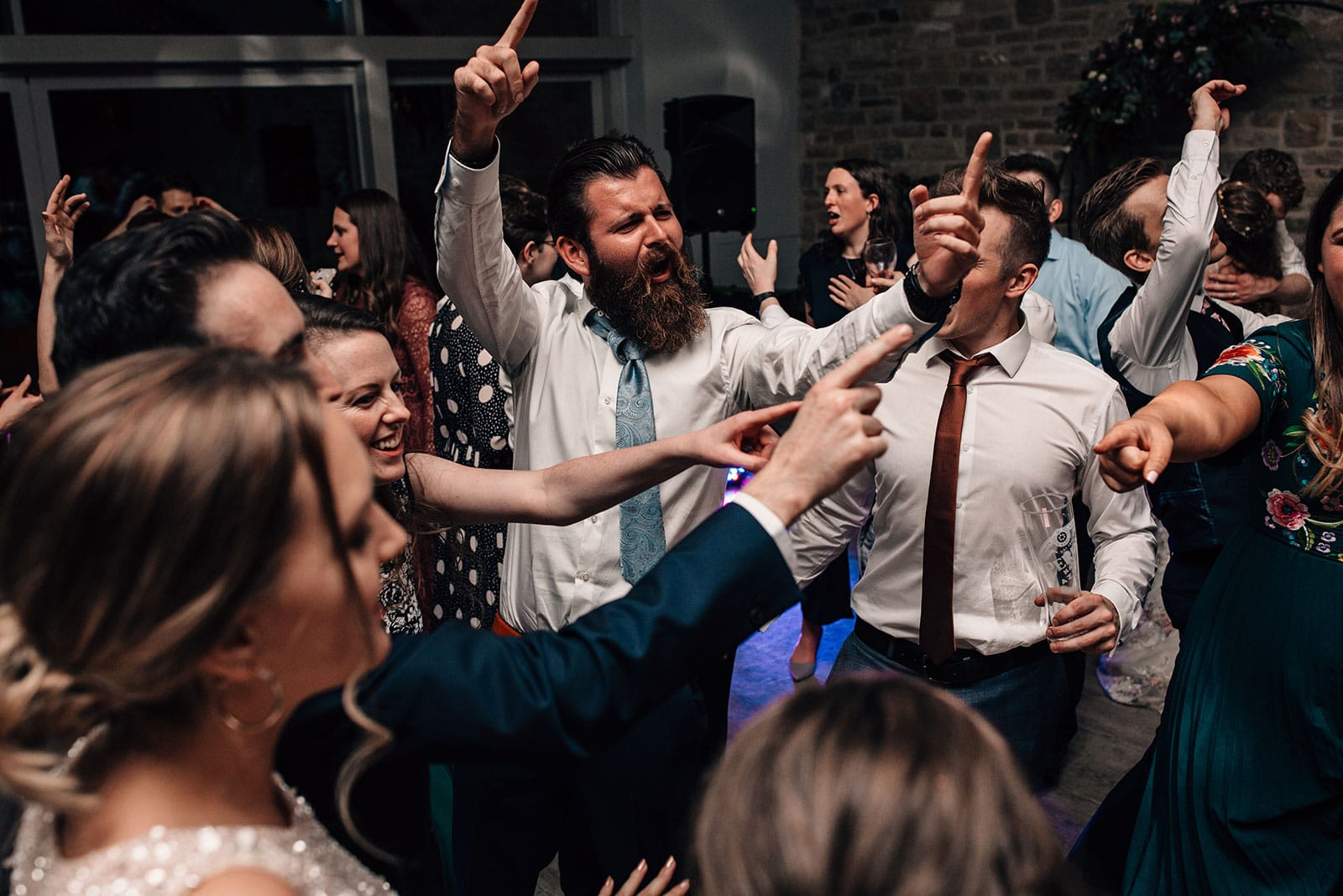 autumnal wedding dance-floor documentary photography