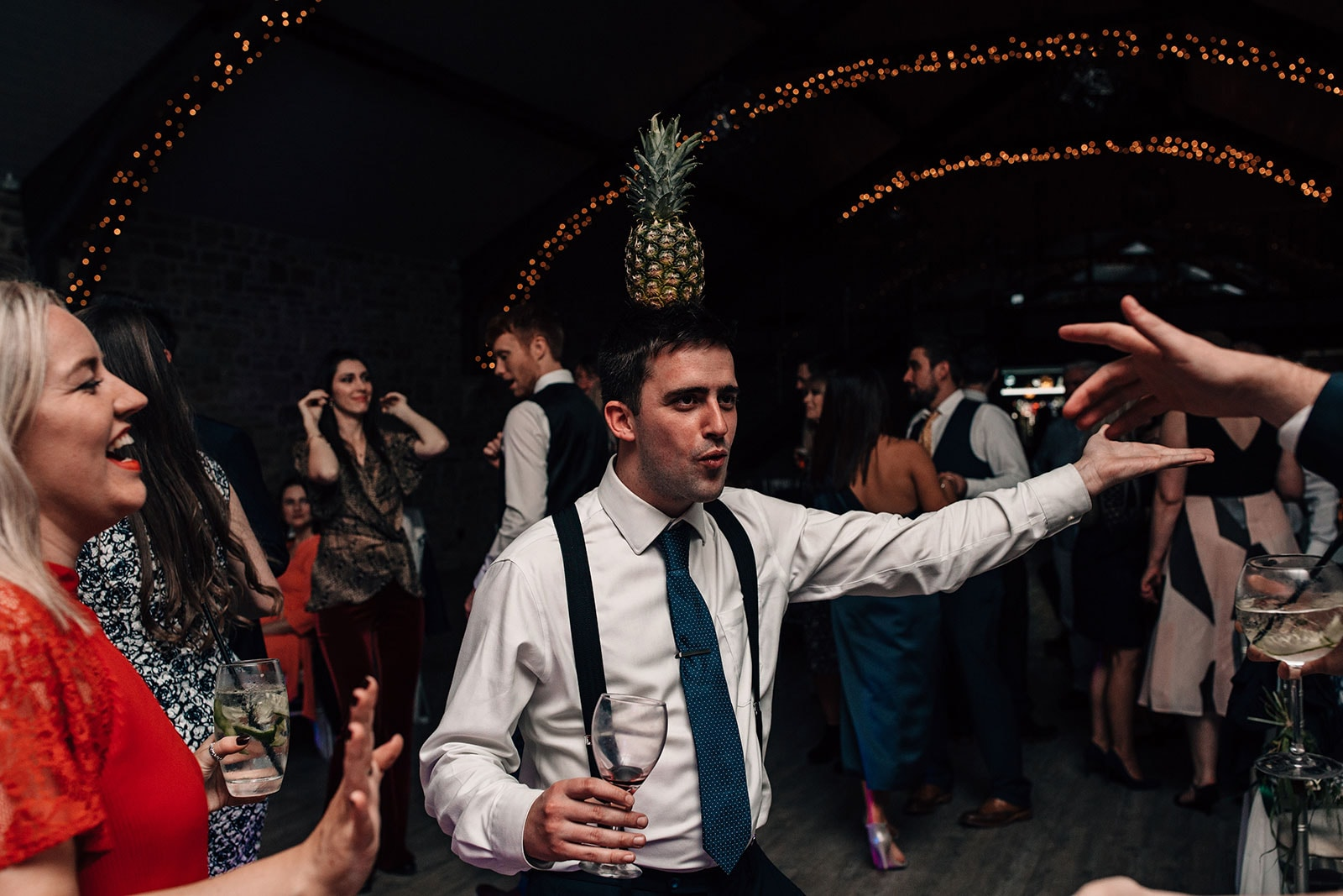 dance-floor photography Yorkshire Wedding Barn