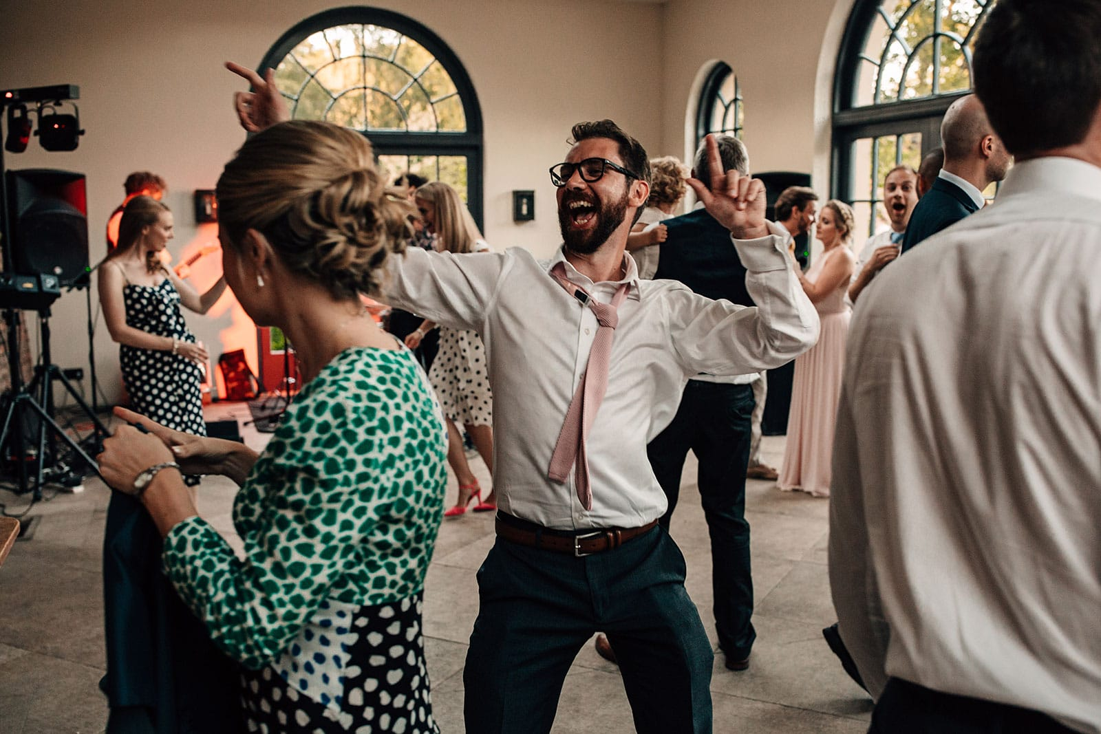 the dance-floor wedding photography Middleton Lodge Yorkshire