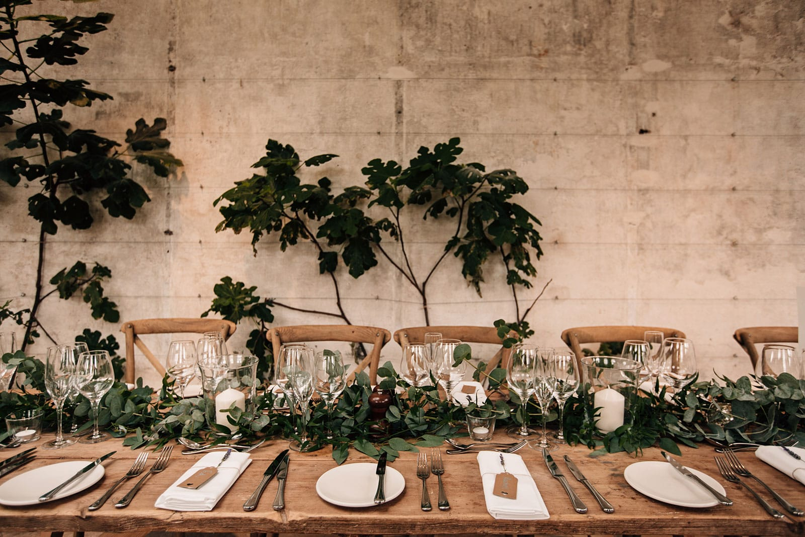rustic wedding table decorations foliage