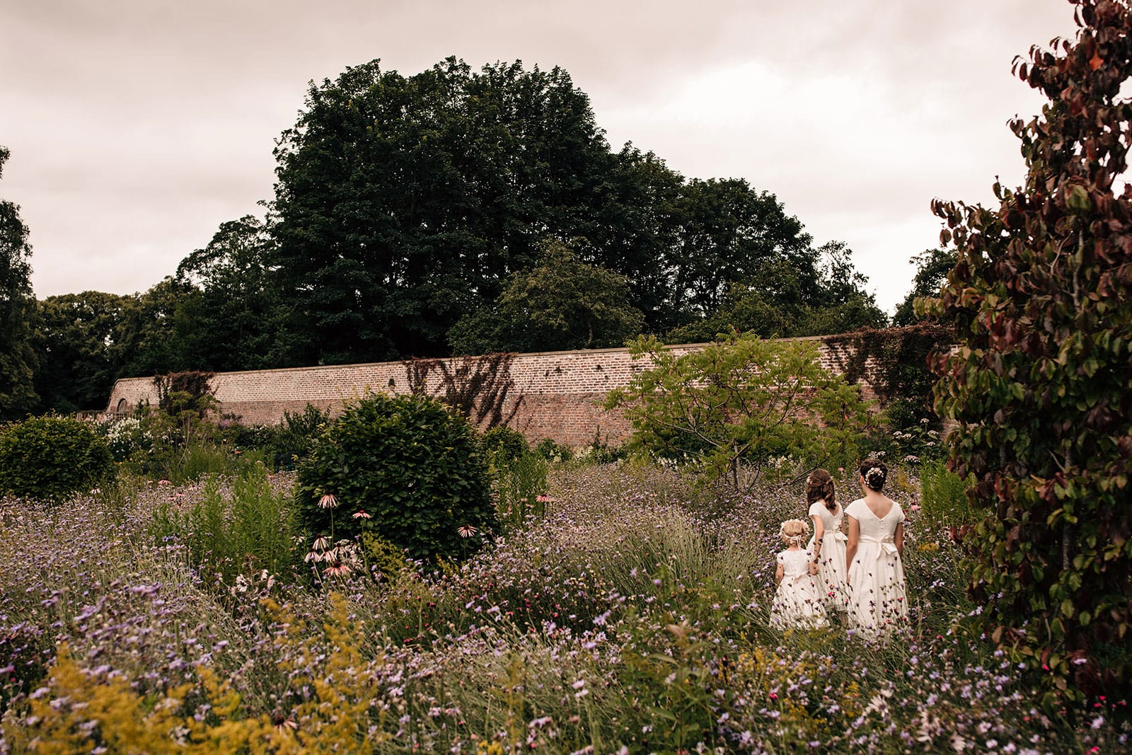 adventure wedding Middleton Lodge Yorkshire flower girls