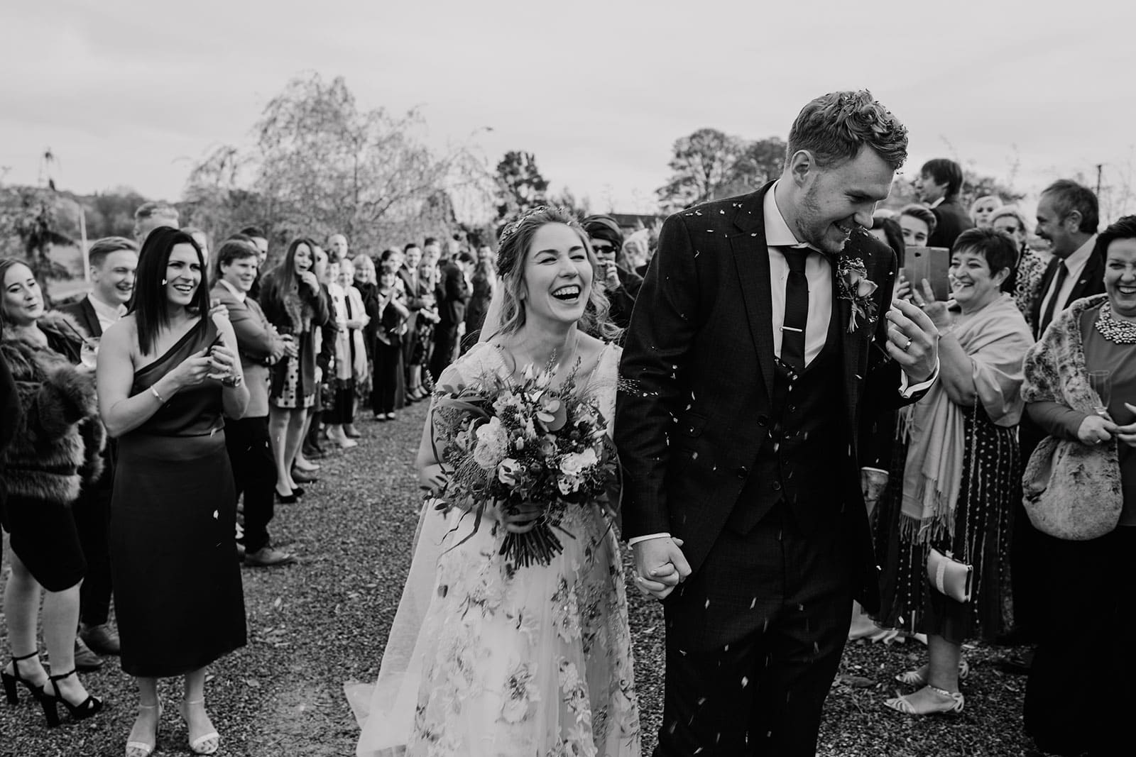 Yorkshire Wedding Barn confetti photographer