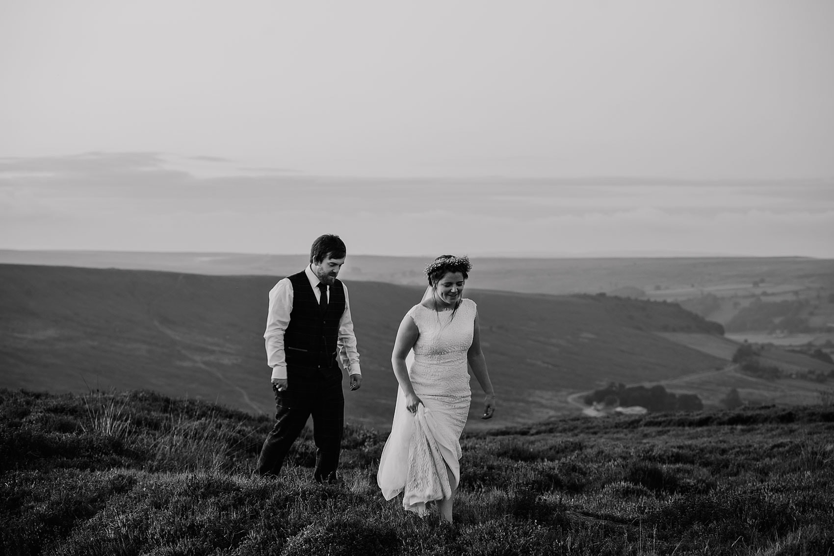 Yorkshire adventure wedding boho bride