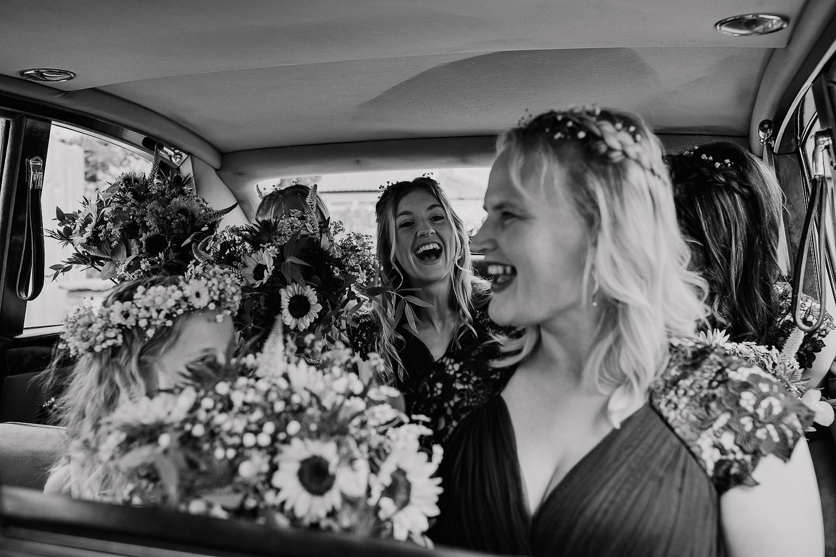 bridesmaids wedding photography Yorkshire