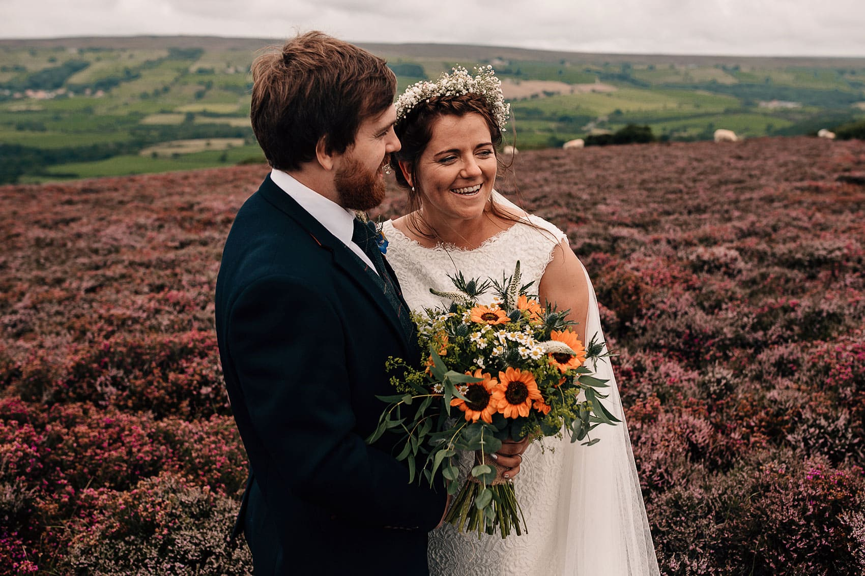 adventurous couples North Yorkshire moors wedding photography