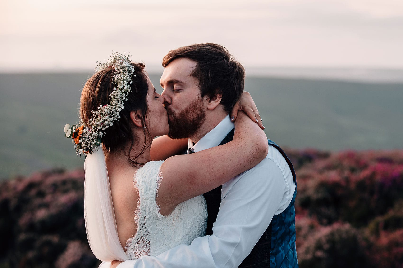 Yorkshire moors farm wedding
