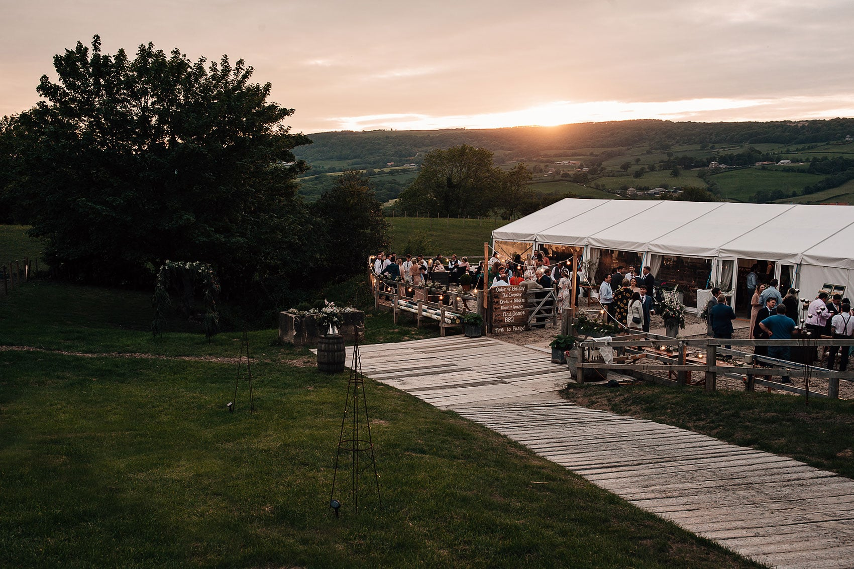 back garden wedding photography Yorkshire