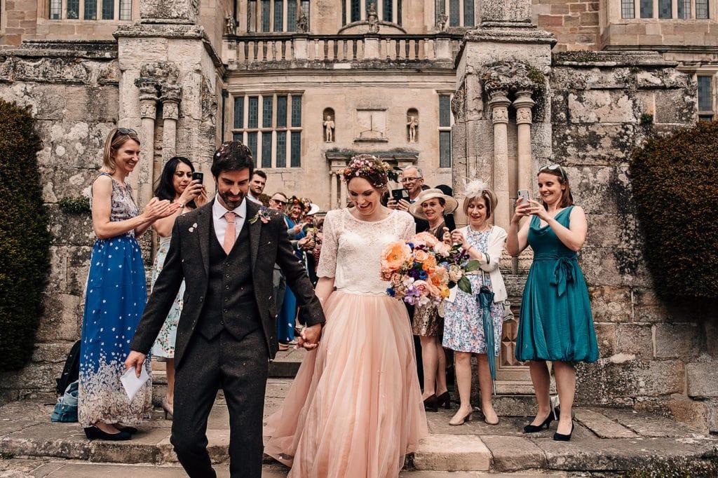 bohemian bride secret garden wedding photography Fountains Abbey