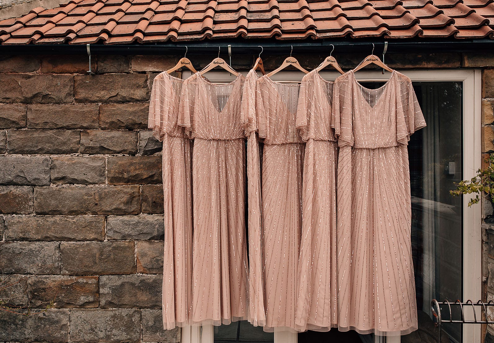 marquee laid back wedding bridesmaids dresses