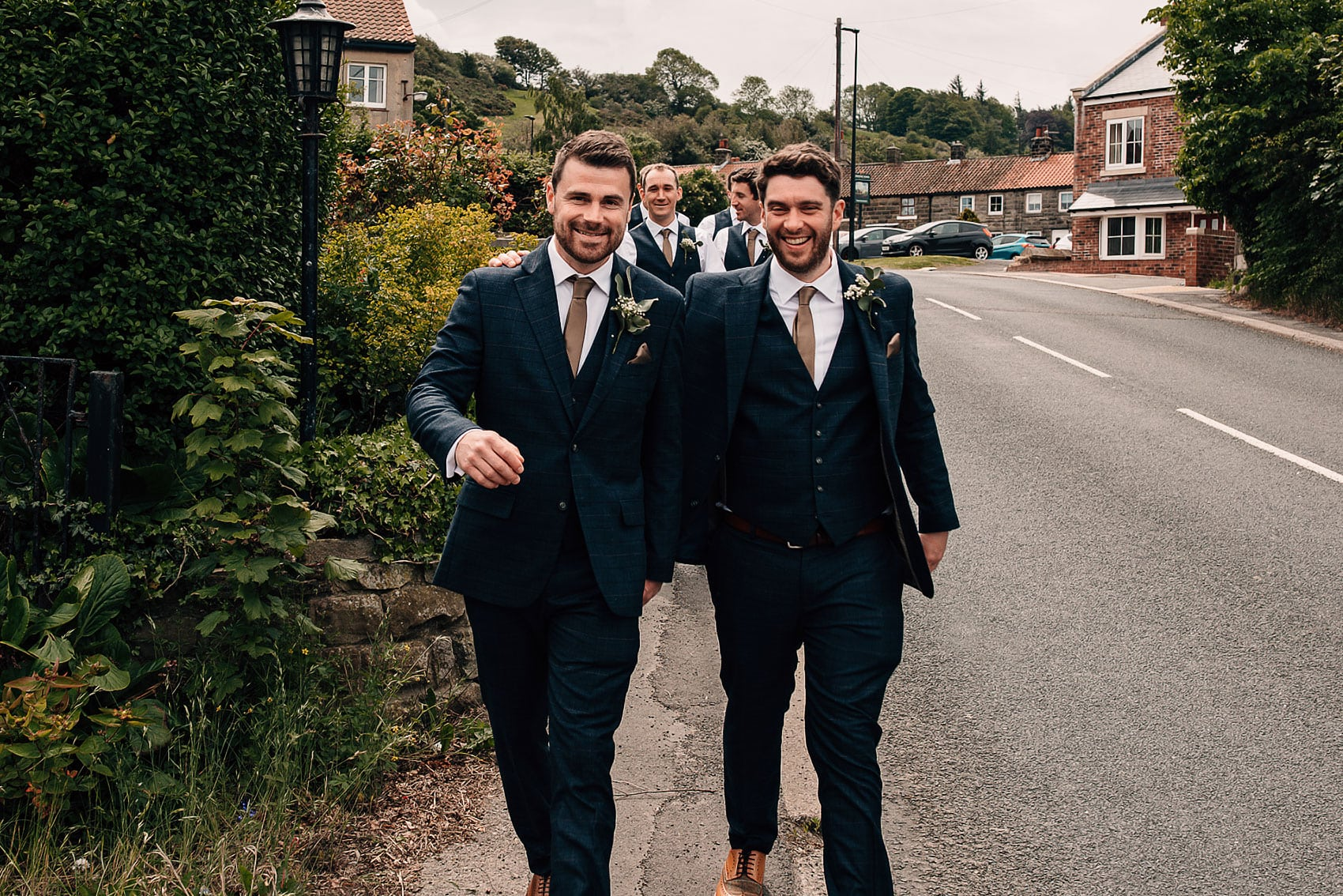 groomsmen countryside wedding photography Yorkshire