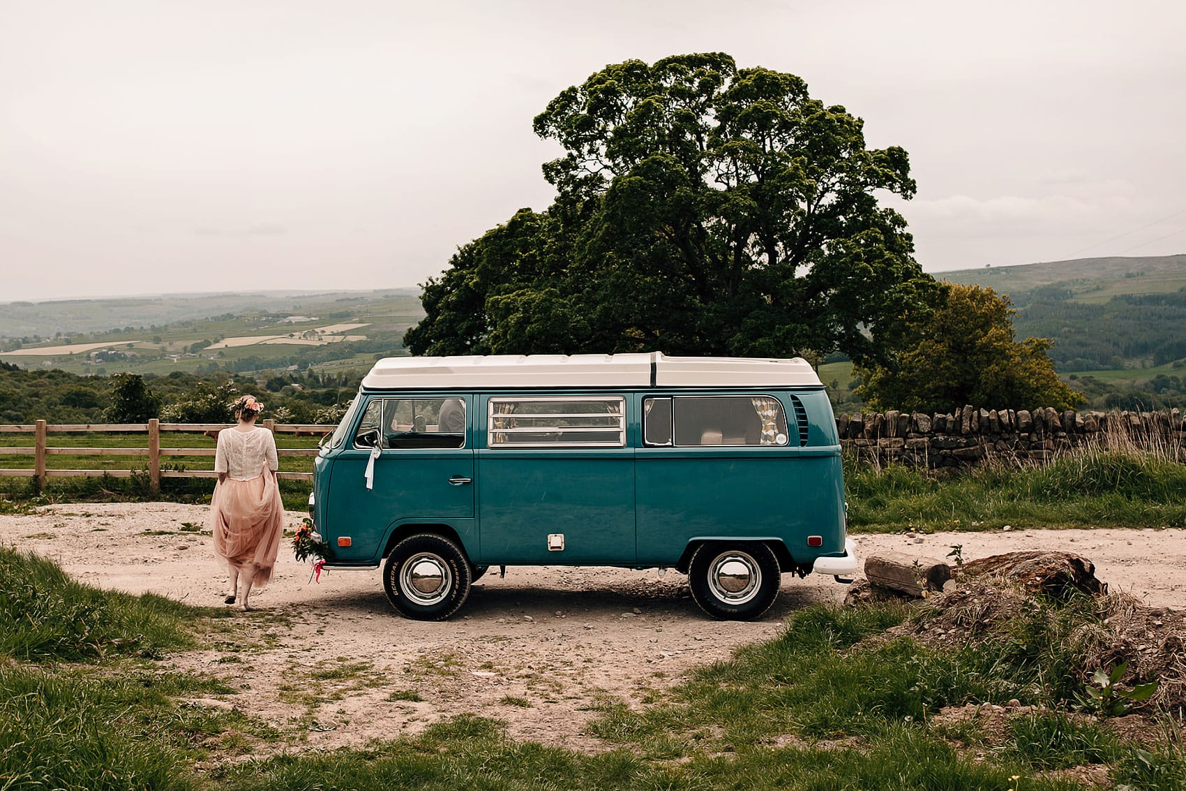 adventure wedding photography Yorkshire festival bride