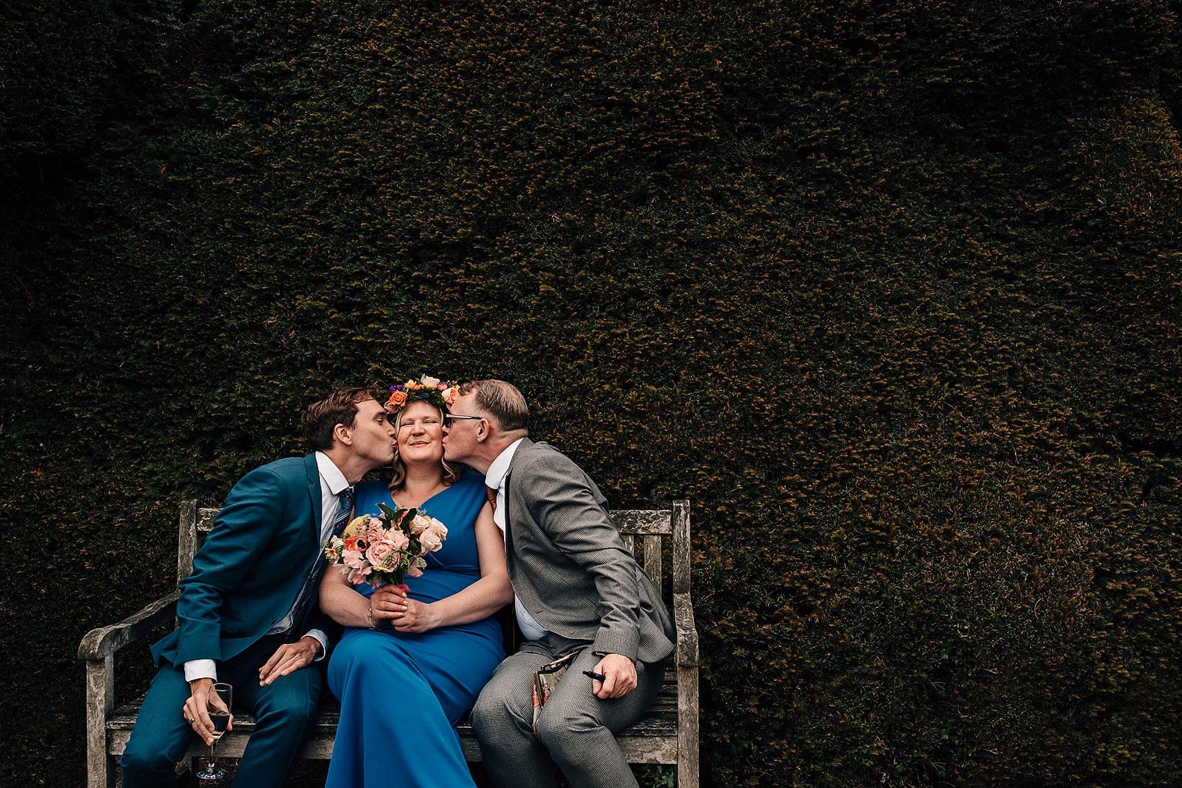 secret garden wedding photography Yorkshire flower crown