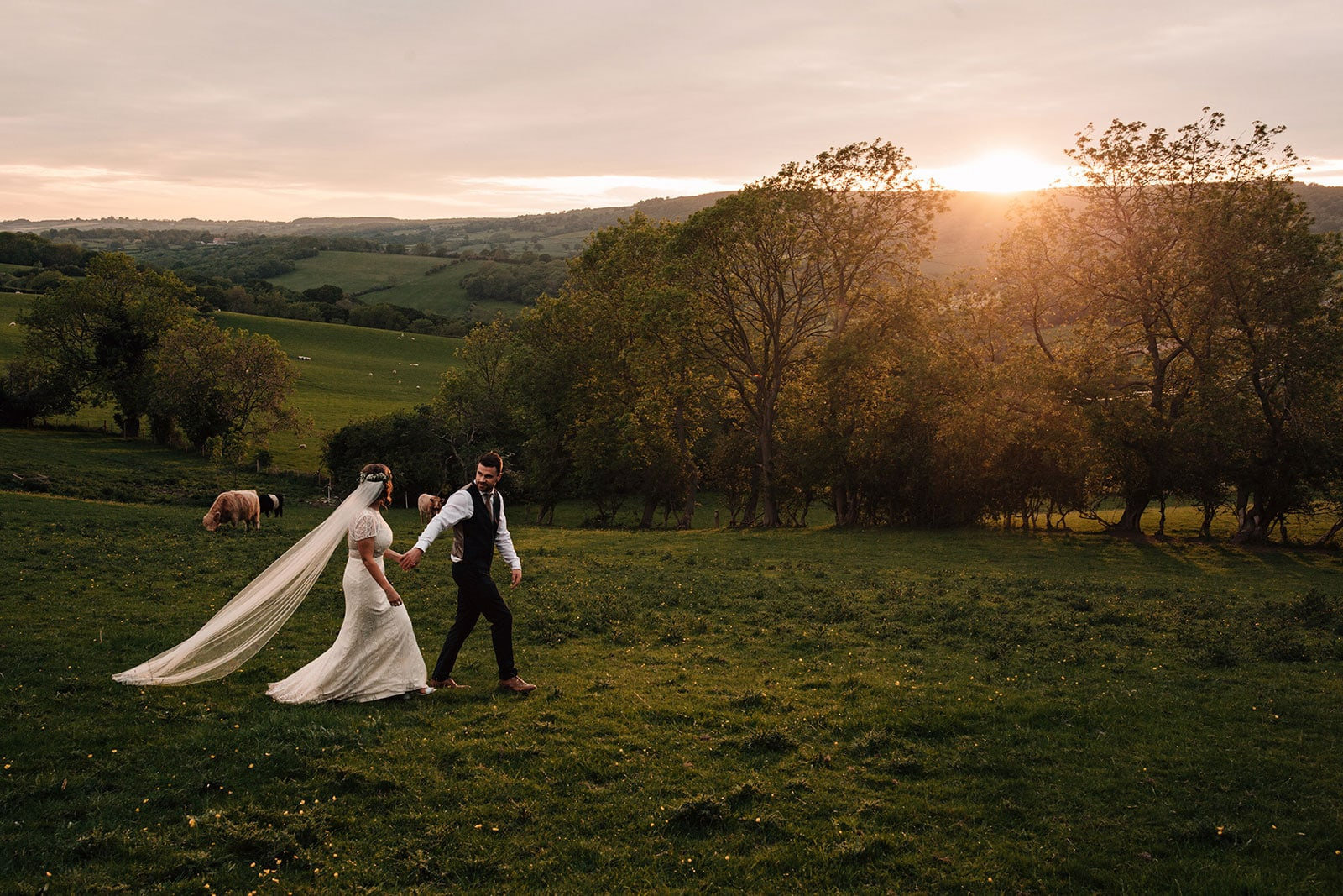 adventurous country garden wedding North Yorkshire