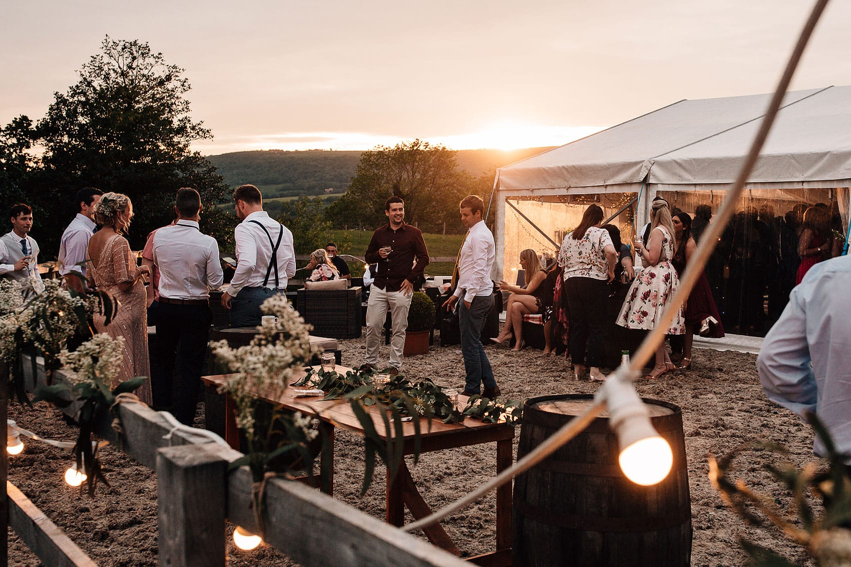 laid back country marquee wedding photography Yorkshire