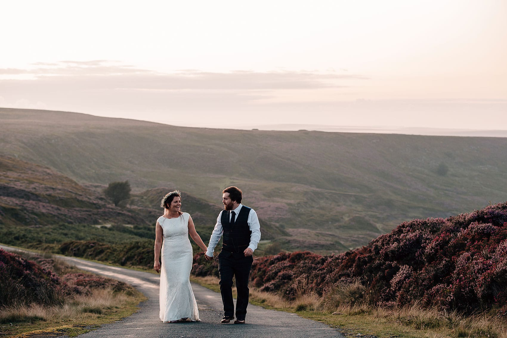 North Yorkshire farm wedding adventurous couple
